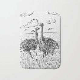 Two Ostriches Bath Mat