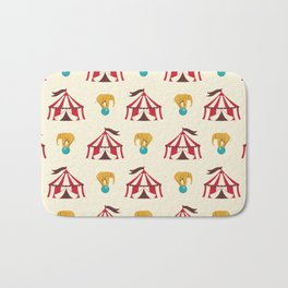 Circus With Performing Elephants Bath Mat