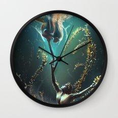 Underwater ballet Wall Clock