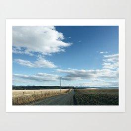 quiet road Art Print