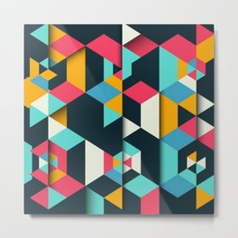 frames geometric colors Metal Print