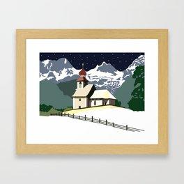 Auer Church Austrian Snow Framed Art Print