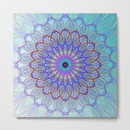 Blue Mandala Metal Print