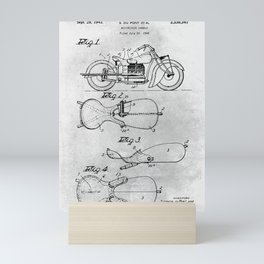 Motorcycle saddle Mini Art Print