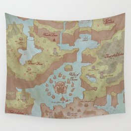 Super Mario World Map (Vintage Style) Wall Tapestry