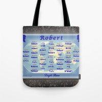 robert farkas Tote Bags featuring Robert by JMcCombie