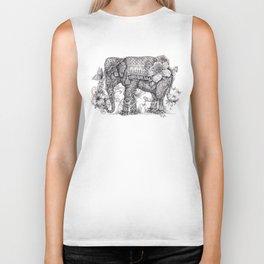 """Anesh the Creative Elephant"" Biker Tank"