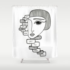 YES NO MAYBE Shower Curtain