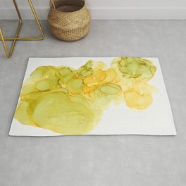 Green & Yellow Ink Composition Rug