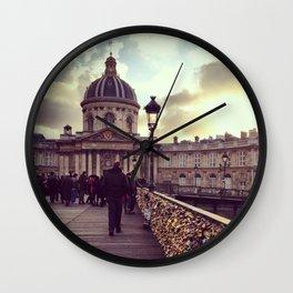 Lovers Bridge, Paris Wall Clock