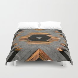 Urban Tribal Pattern 6 - Aztec - Concrete and Wood Duvet Cover