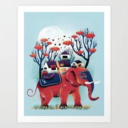 A Colorful Ride Art Print