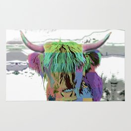 Highland Longhorn Tartan Cow Rug