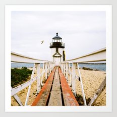 Lighthouse on Nantucket Art Print