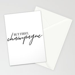 but first, Champagne Stationery Cards