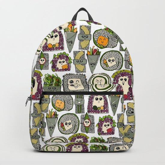 veggie sushi white Backpack