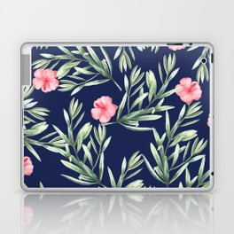Delicate Hibiscus Blue Laptop & iPad Skin
