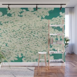 Queen Anne's Lace Turquoise Wall Mural