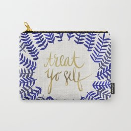 Treat Yo Self – Gold & Navy Carry-All Pouch
