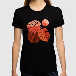 Abstraction_MONSTERA_TROPICAL_ART_Minimalism_001A T-shirt