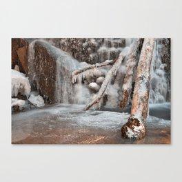 Frozen Avalon Falls Canvas Print