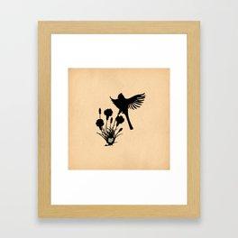 Ohio - State Papercut Print Framed Art Print