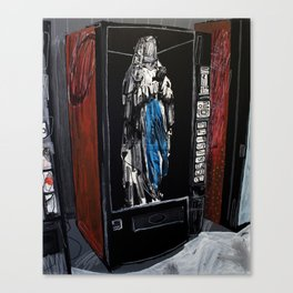Saint in a vending machine 2. 2009.  Canvas Print