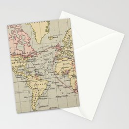Vintage Map of The World (1914) Stationery Cards