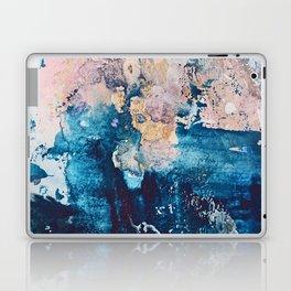 Breathe Again: a vibrant mixed-media piece in blues pinks and gold by Alyssa Hamilton Art Laptop & iPad Skin