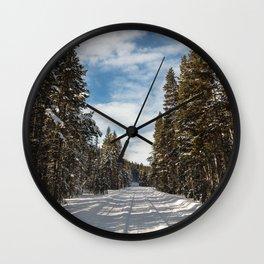 Yellowstone National Park - Grand Loop Road Wall Clock
