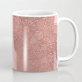 Dreamcatcher Sunset - abstract bronze rose gold mandala, blush pink Coffee Mug