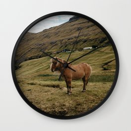The Saksun Horse Wall Clock