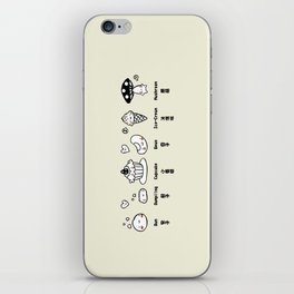 Random Cute Food with Faces iPhone Skin
