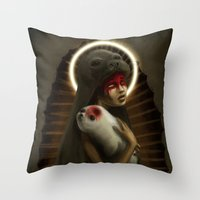 seal Throw Pillows featuring seal by lalinsan