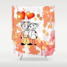 Beste Freunde - best friends Shower Curtain