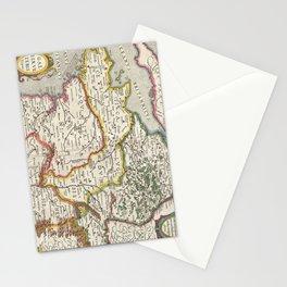 Vintage Map of France (1657) Stationery Cards
