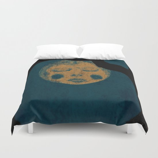 Moon With The Blues Duvet Cover