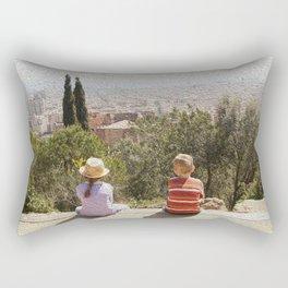 Kids at Montjuic Rectangular Pillow