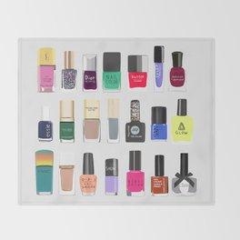 My nail polish collection art print Throw Blanket