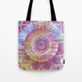 Glitch Mandala Tote Bag
