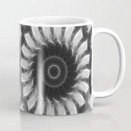 Gray Kaleidoscope Art 8 Highlighted Coffee Mug