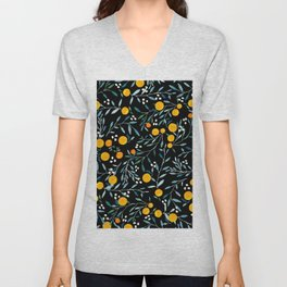 Oranges Black Unisex V-Neck