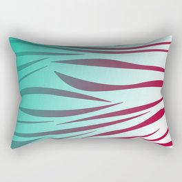 design lines blue with pink Rectangular Pillow