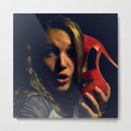 Alena & Shoes Metal Print