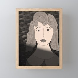 Woman in the Shadows Framed Mini Art Print