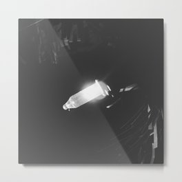 One Lone Light in the Darkness Metal Print