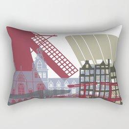 Amsterdam skyline poster Rectangular Pillow