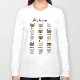 Kitty Language Long Sleeve T-shirt