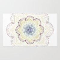 henna Area & Throw Rugs featuring Mandala Henna by Liz Slome