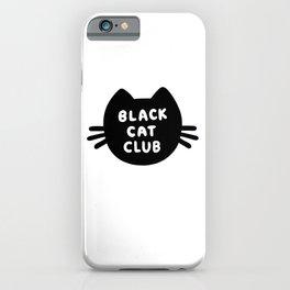Black Cat Club iPhone Case